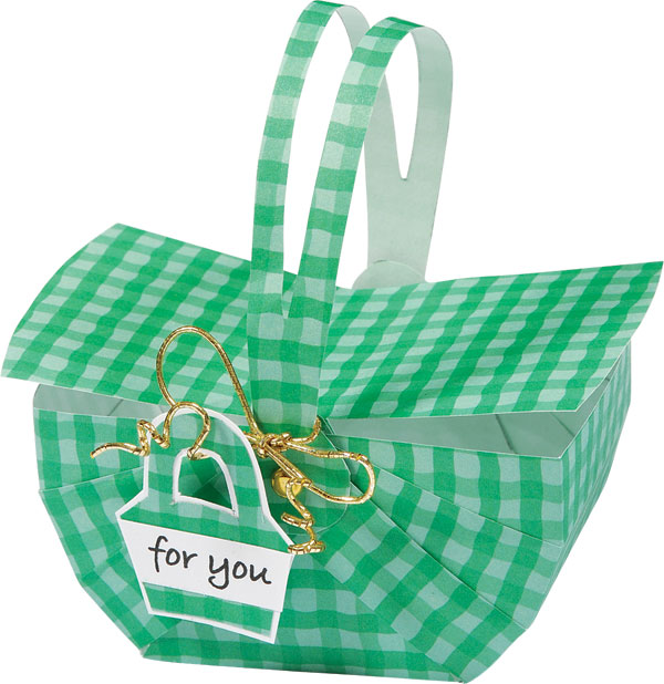 Picnic Basket clipart printable Shower base favour green baby