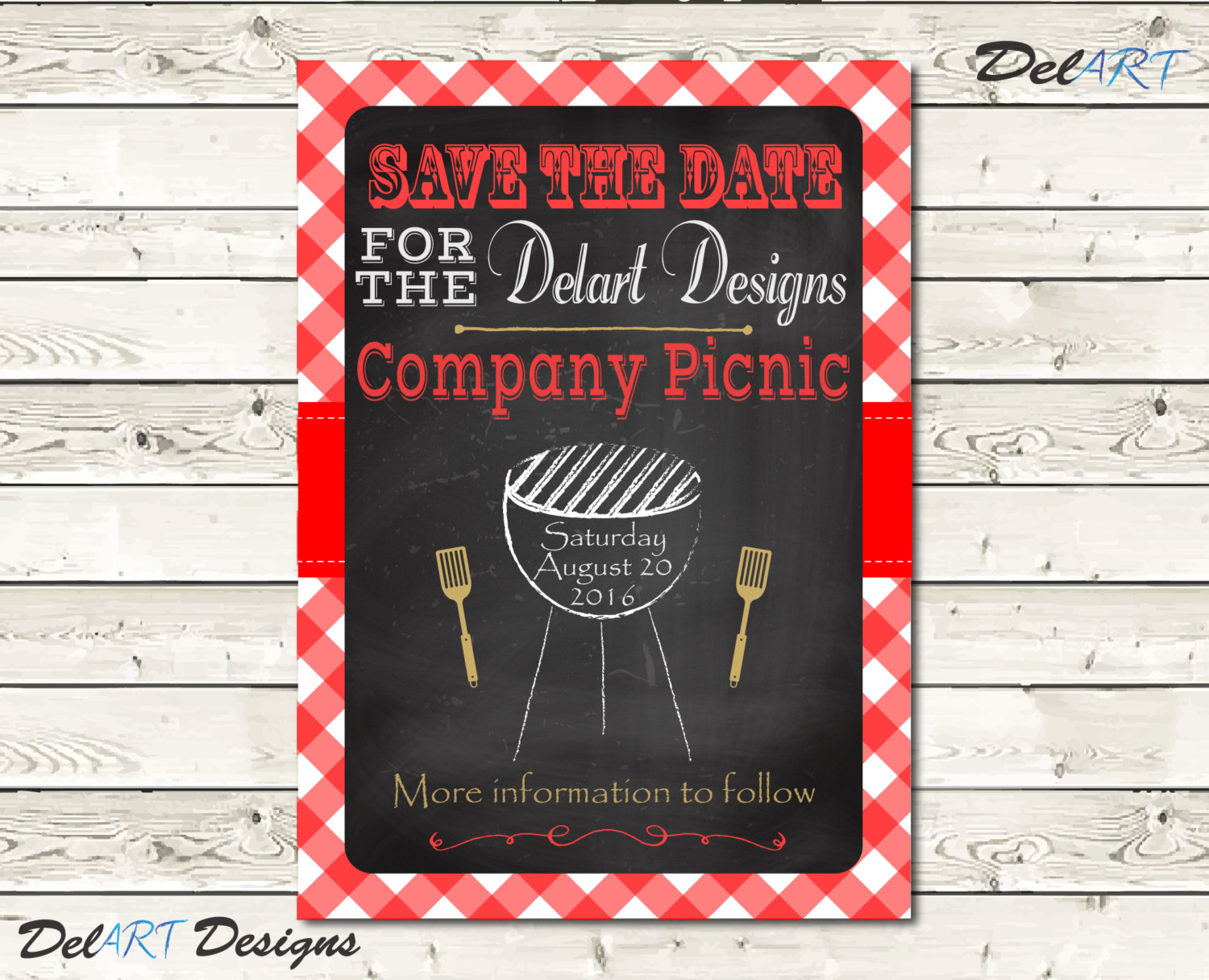 Picnic Basket clipart save the date Picnic Birthday BBQ save Etsy