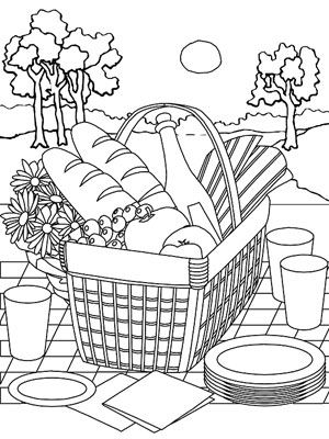 Picnic Basket clipart school picnic Planning! about 95 Coloring Pinterest