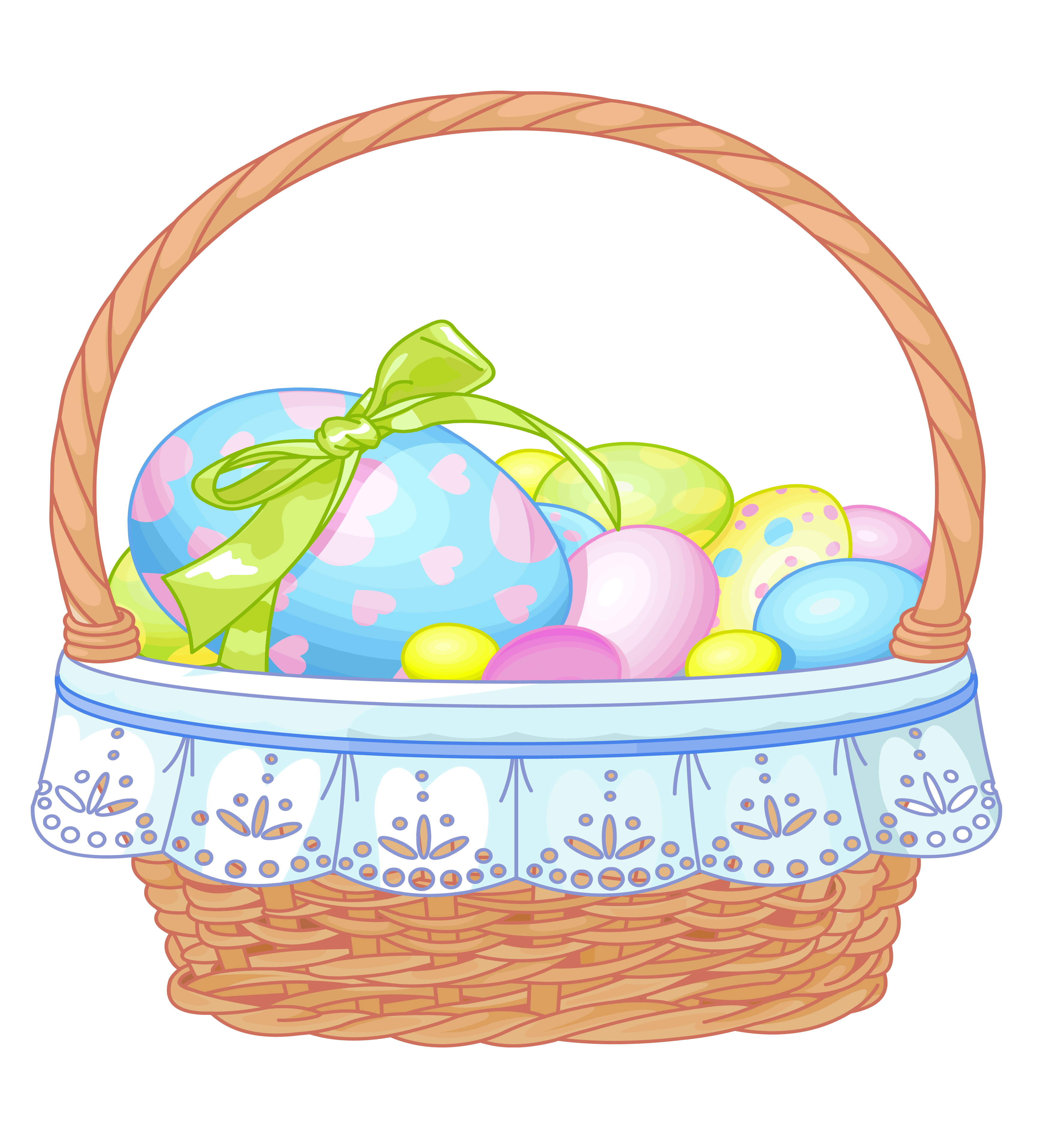 Brown clipart easter basket Picnic black free and WikiClipArt