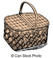 Picnic Basket clipart vector 984 and vector white basket