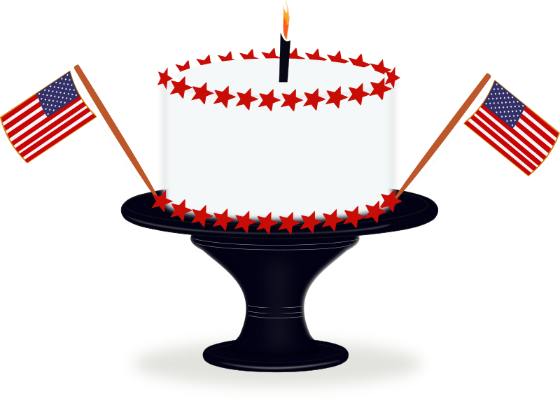 Small clipart 4th july Stats United Day Independence cake