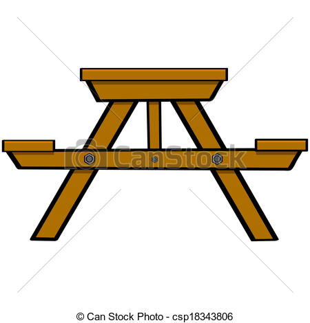 Bench clipart animated Picnic  showing Clipart table