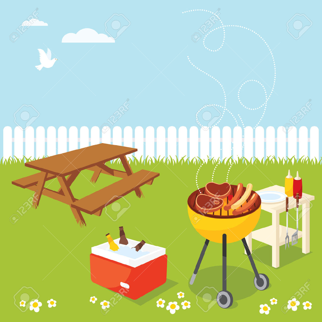 Barbecue clipart bbq party Clipart Free Panda Clipart backyard%20clipart