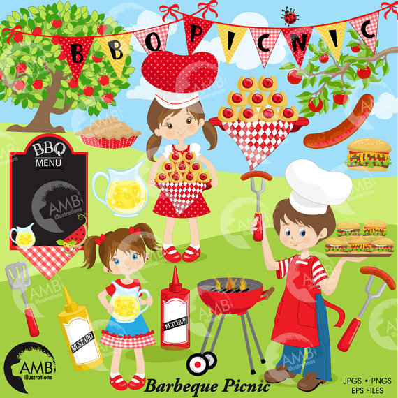 Barbecue clipart bbq party Clipart Grill clip commercial clipart