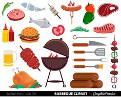 Winter clipart bbq Party bbq Cookout Clipart Clipart
