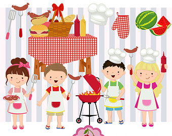 Barbecue Sauce clipart backyard bbq Party Backyard Picnic Clip BBQ