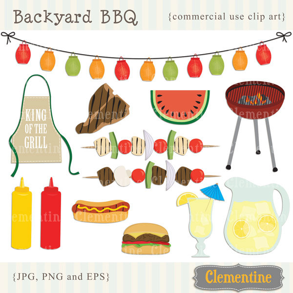 Barbecue clipart bbq party Royalty picnic Etsy Picnic barbecue