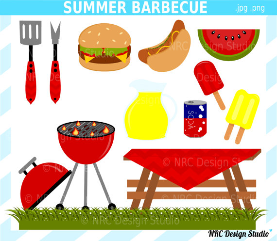 Barbecue Sauce clipart summer bbq SALE Barbecue Art Clip DOLLAR