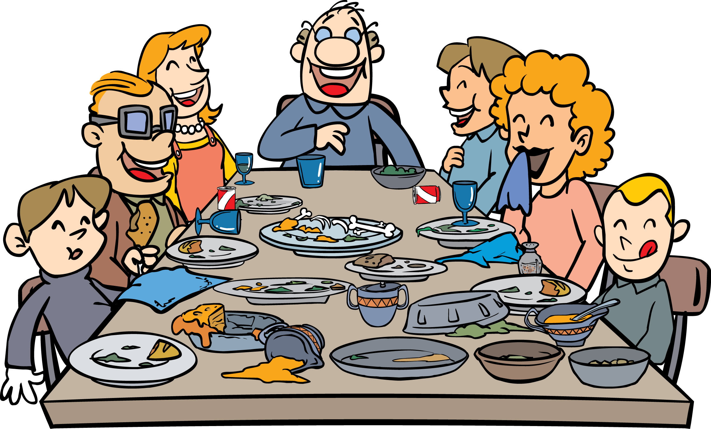 Religious clipart family dinner Dinner Clip on Art Download