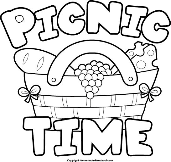 Picnic clipart black and white Clipartix Free The clipartcow clipart