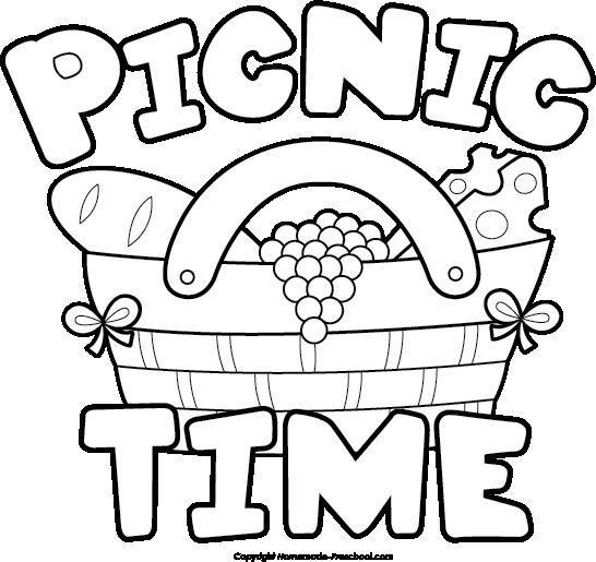 Picnic clipart black and white Clipartix Free The item picnic