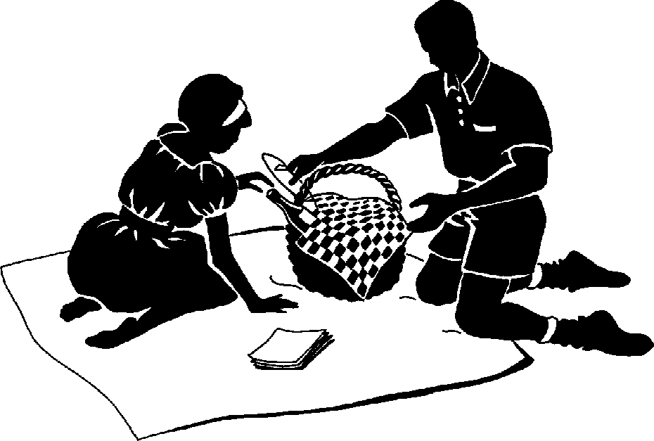 Picnic clipart black and white Pictures 9 Picnic image clipart