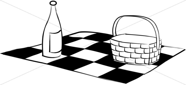 Blanket clipart black and white Wine  White and Activity