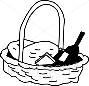 Picnic clipart black and white Free And picnic%20basket%20clipart Black Art