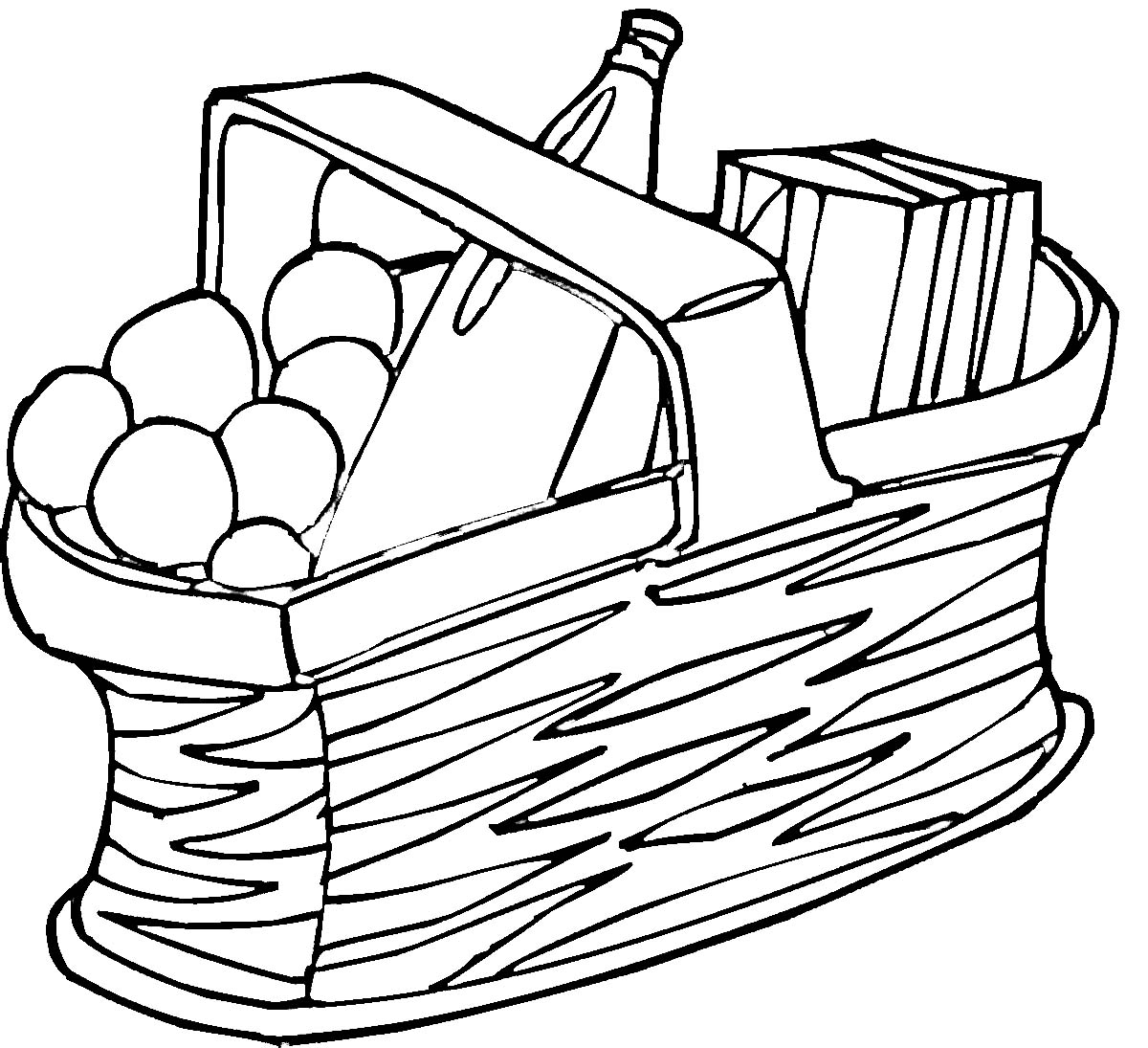 Picnic clipart black and white Free And picnic%20basket%20clip%20art%20black%20and%20white Black Art