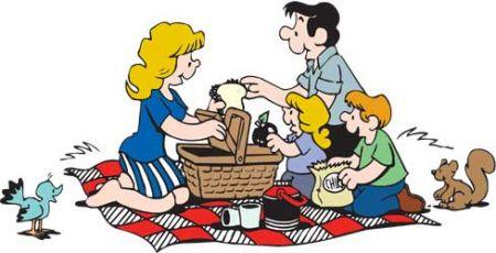 Picnic clipart cartoon Clipart Clip com Family Best