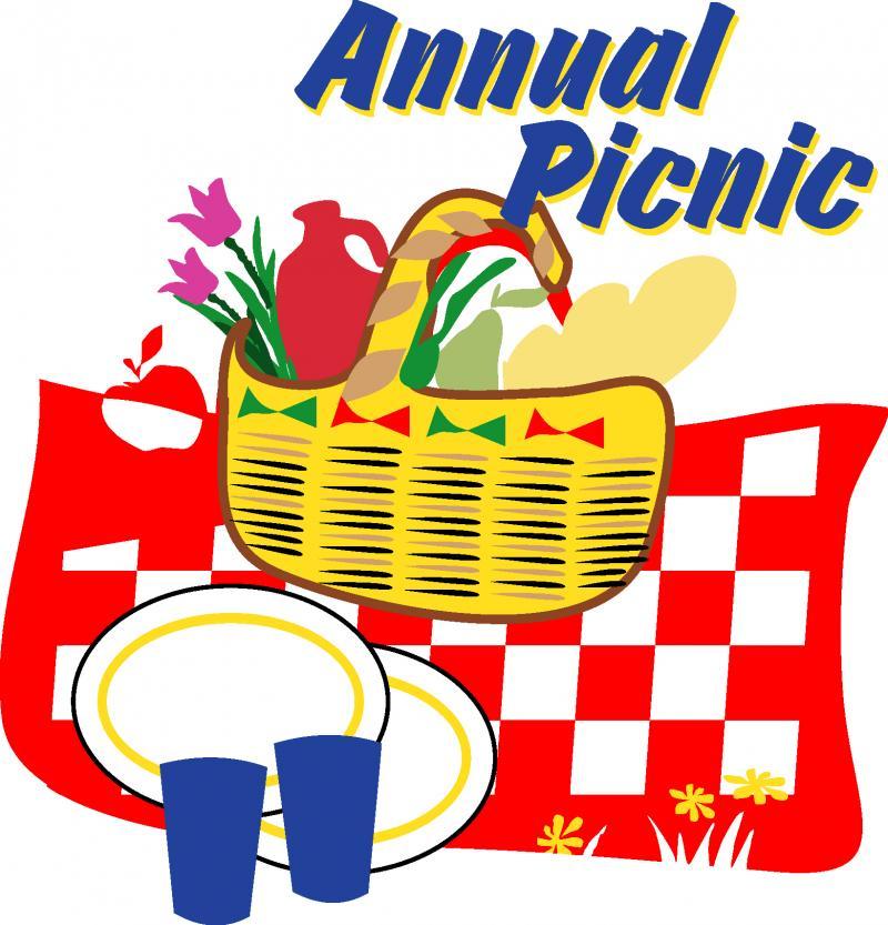 Picnic clipart church picnic Resolution Church Picnic Clipart 800x833