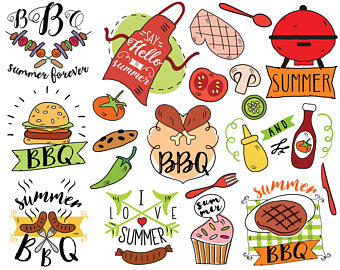 Barbecue Sauce clipart summer bbq Clipart doodle summer Hamburger Clipart