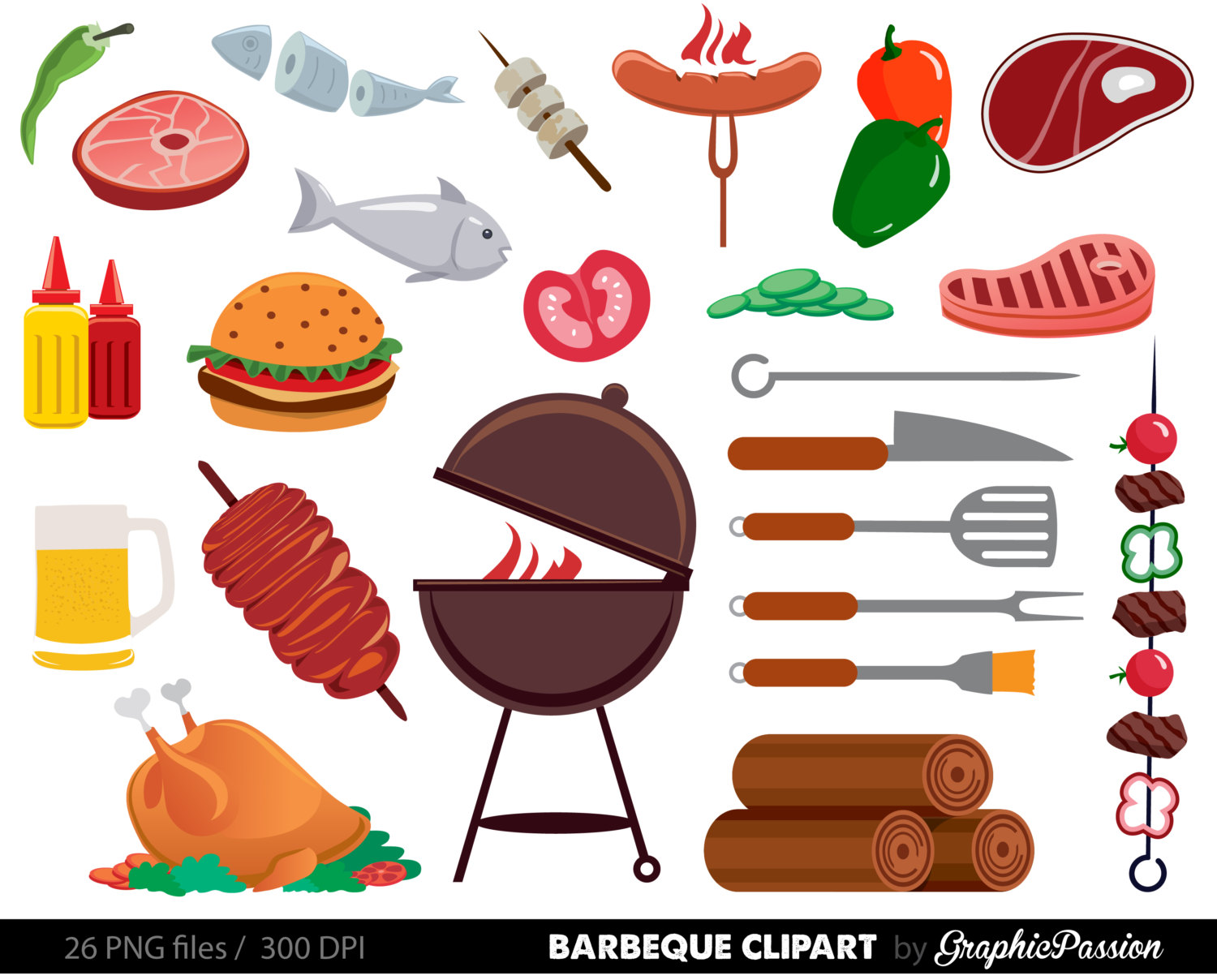 Barbecue Sauce clipart summer bbq Clipart Food Clipart Bbq Cookout