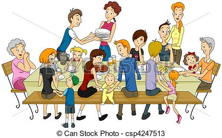 Picnic clipart family gathering  Clipart Search Reunion Family