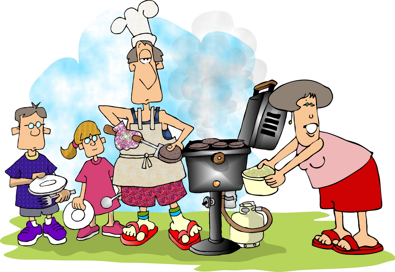 Barbecue clipart family gathering Picnic WOW the recipes barbeque