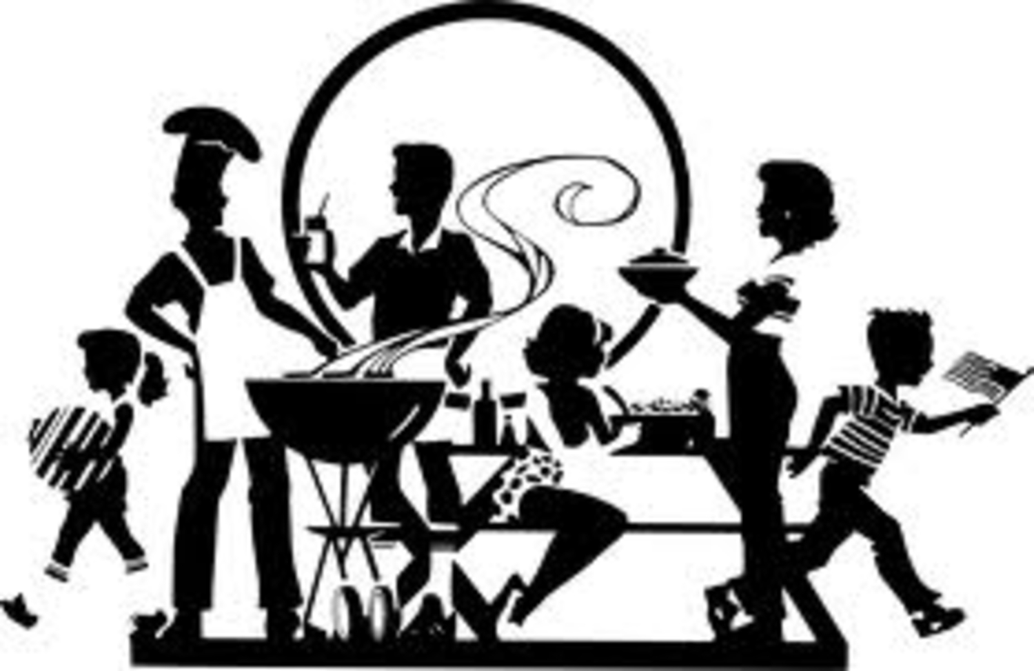 Retro clipart dinner party #3