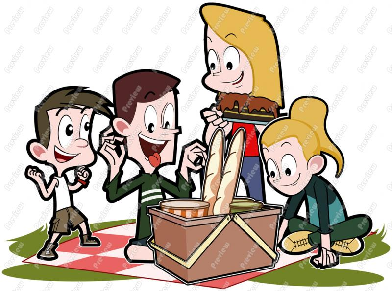 Picnic clipart family picnic Collection Family picnic clipart family