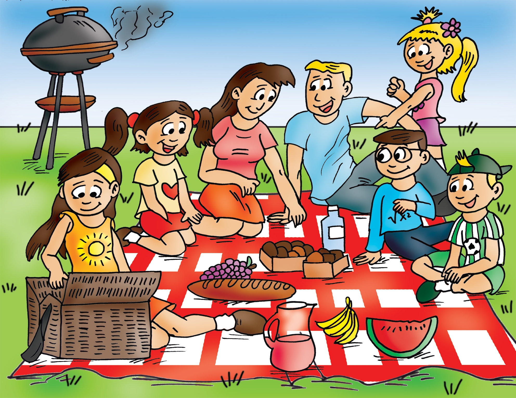 Picnic clipart family picnic Collection Family clipart 2 of