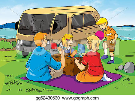 Picnic clipart family picnic Clipart Drawing picnic of Drawing