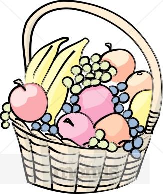 Plate clipart fruit basket #2