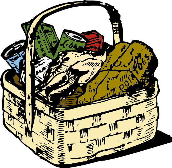 Picnic clipart food hamper Basket Clker vector online Download