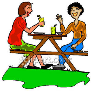 Bench clipart lunch table Picnic Panda Table Free Clipart