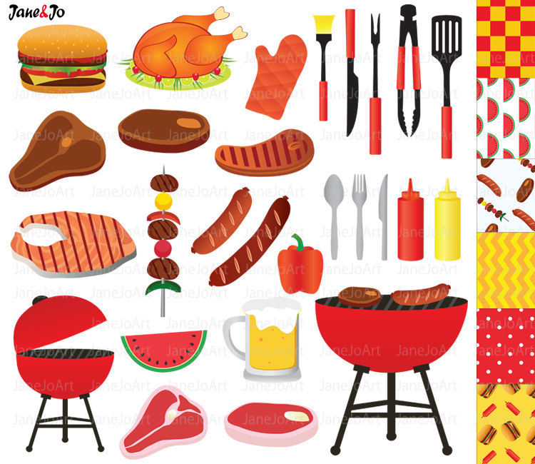 Barbecue clipart bbq party Party Clipart Food Summer