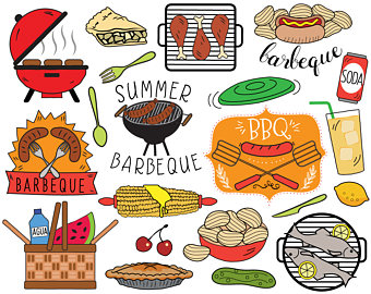 Barbecue Sauce clipart summer bbq Picnic art cooking clipart summer