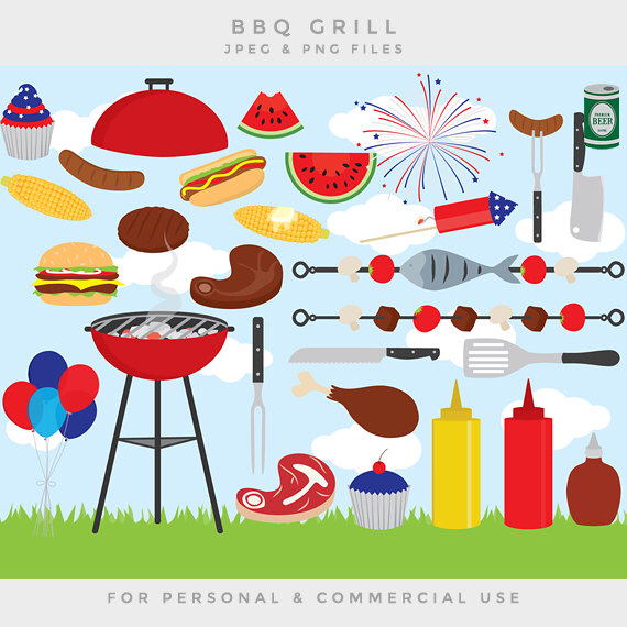 Barbecue Sauce clipart summer bbq Art grill Day clipart personal