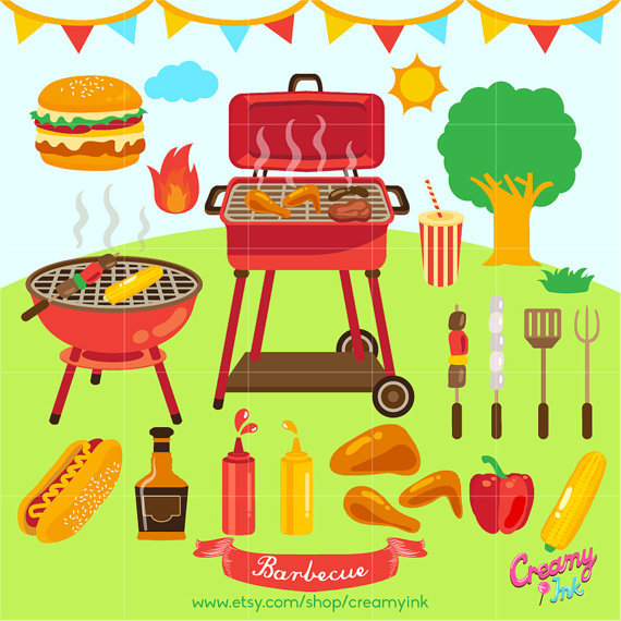 Barbecue clipart bbq party BBQ Clipart /  Art