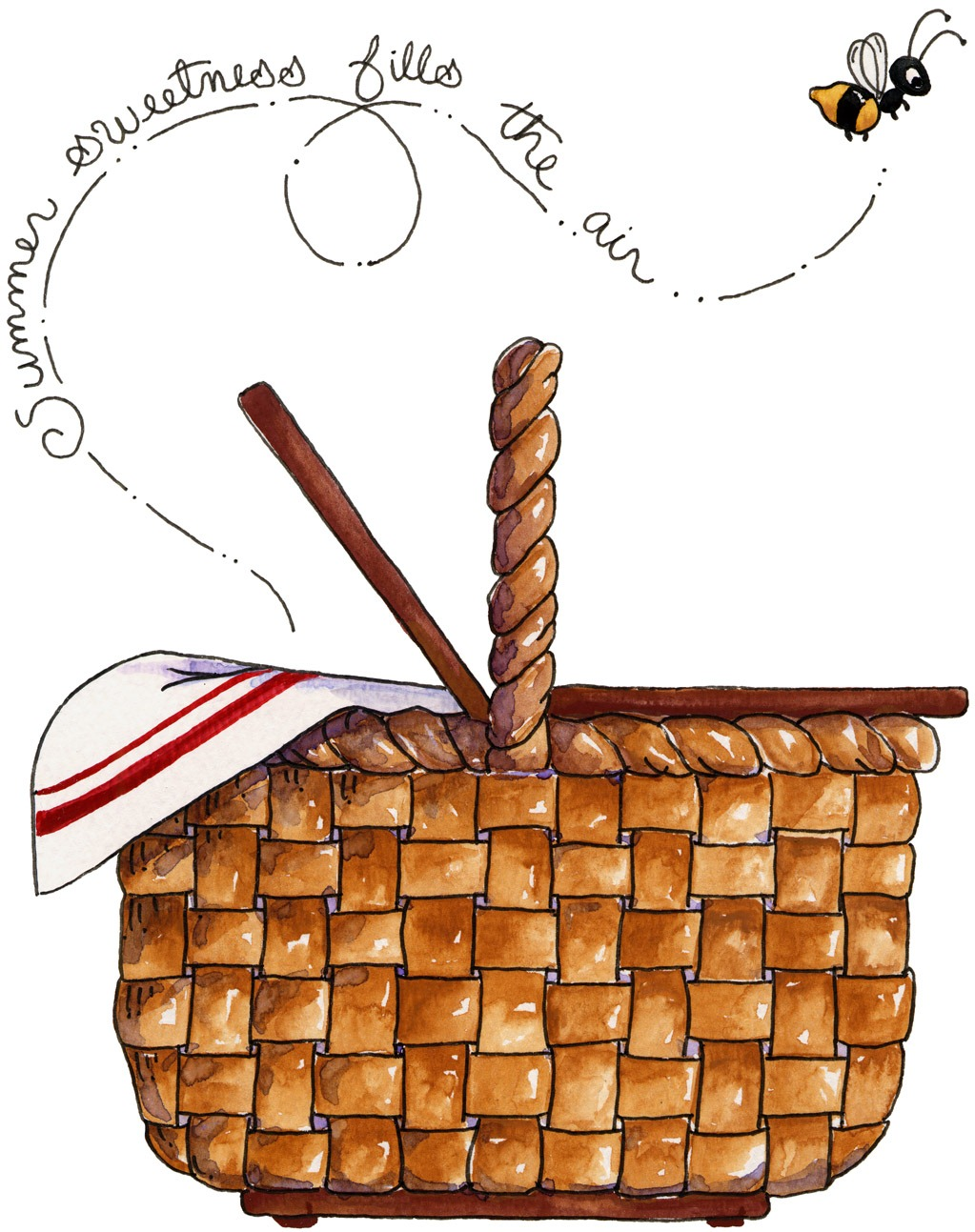 Basket clipart summer picnic Art and clipart Picnic Picnic