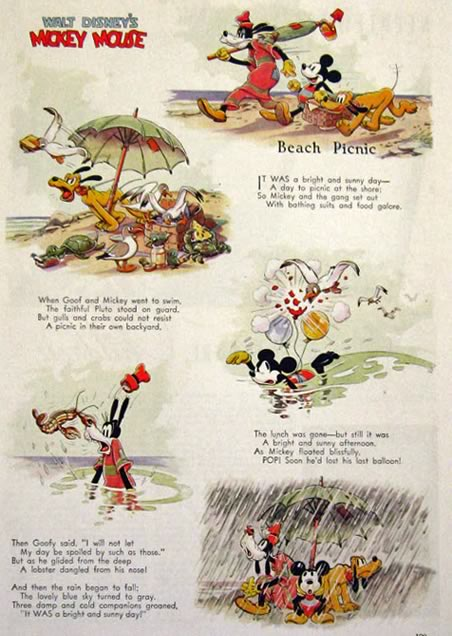 Picnic clipart mickey mouse Page Beach Mickey Antique Cartoon