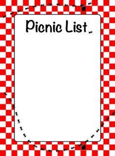 Picnic clipart page border Images Pix Page Clip Border