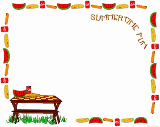 Picnic clipart page border Summer Clip Best Art 6