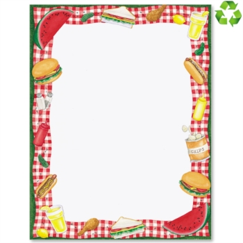 Picnic clipart page border  Papers Time Picnic Border