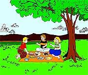Picnic clipart picnic area #12