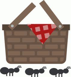 Matte clipart Basket home clip Picnic Picnic+basket+to+color