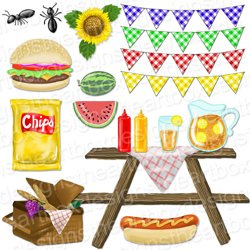 Picnic clipart picnic lunch + Banners Bunting Clipart Summer