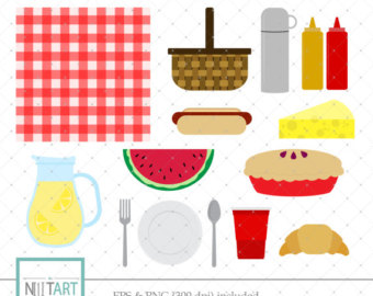 Picnic clipart picnic lunch Images graphics vector Picnic meal
