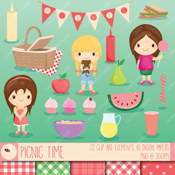 Picnic clipart picnic party Picnic / set picnic