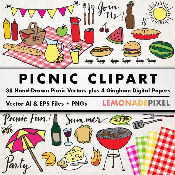 Picnic clipart picnic party Clipart clip LemonadePixel theme element