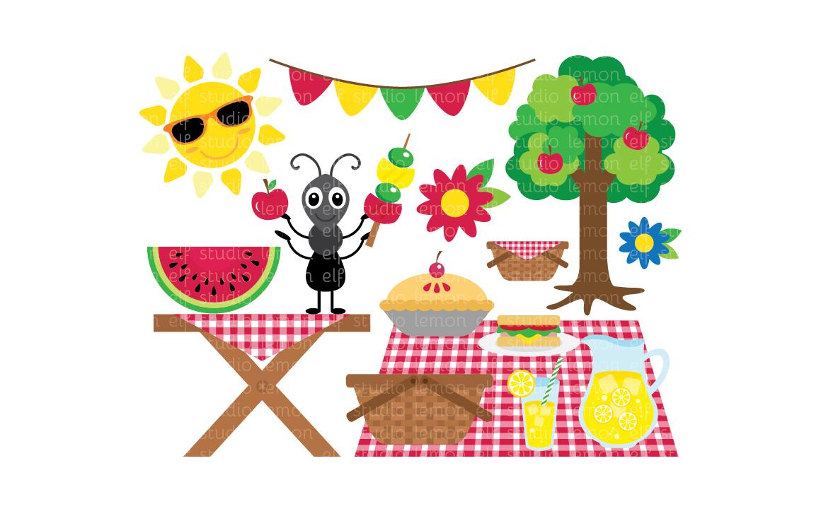Picnic Table clipart summer picnic #7