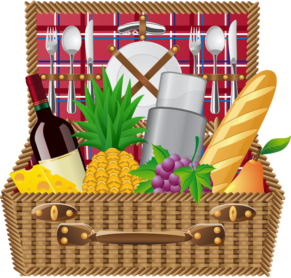Basket clipart summer picnic Art info and picnic clip